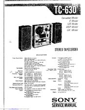 sony tc d5m service manual