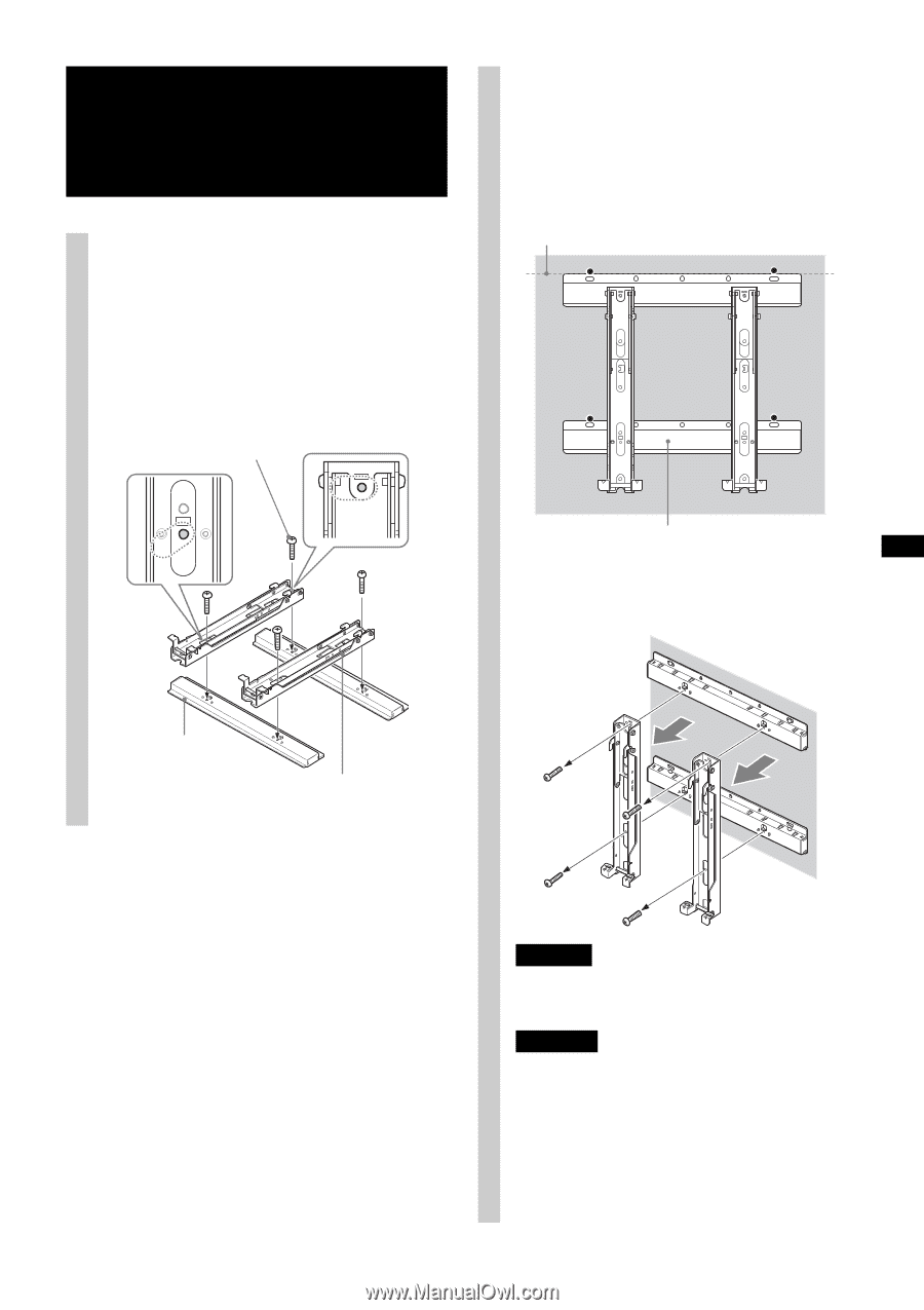 sony wall mount bracket su wl500 instructions
