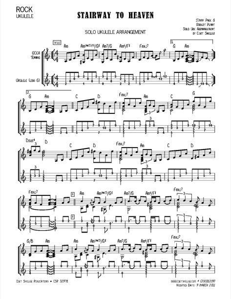 Stairway to heaven ukulele chords pdf
