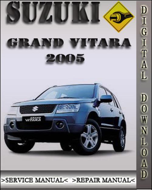 Suzuki Grand Vitara 2006 Service Manual Pdf