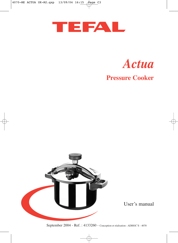 T fal pressure cooker instruction manual