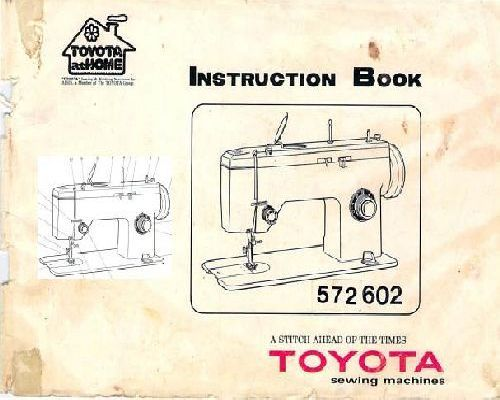 toyota 2400 sewing machine instructions