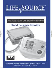 Ua 767 plus blood pressure monitor manual