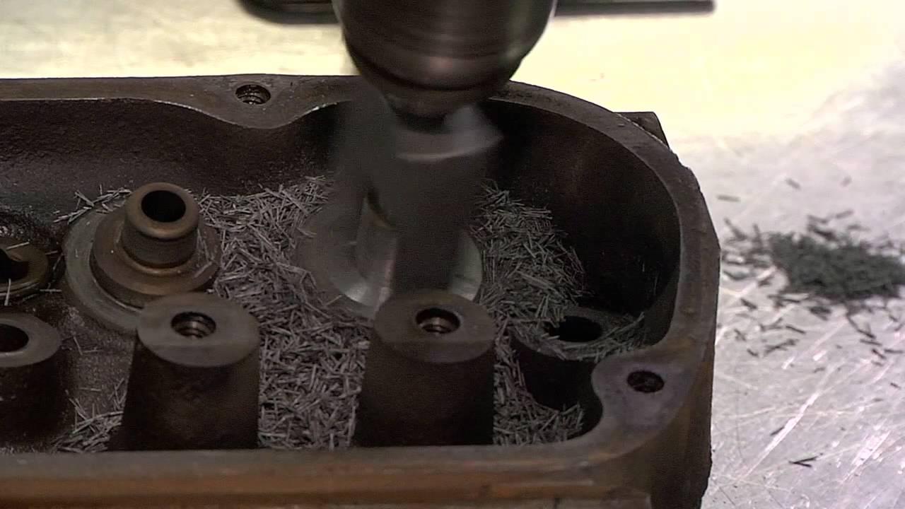 Vortec valve guide cutting tool