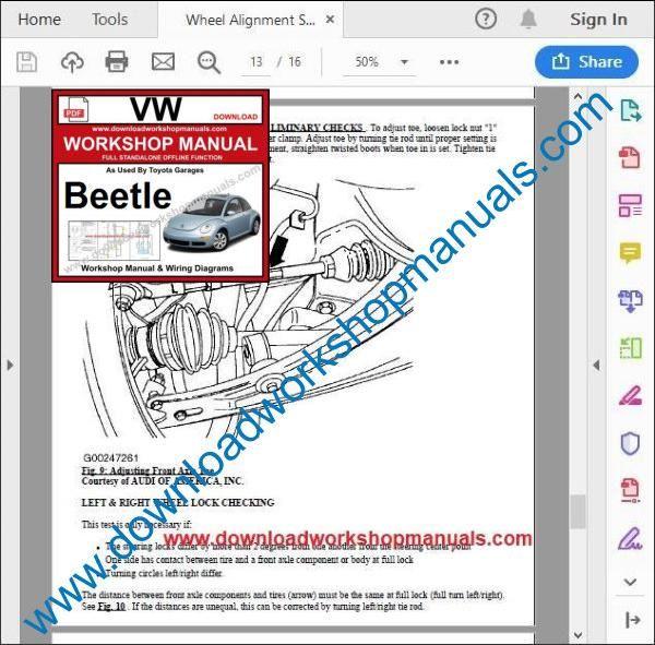 vw beetle repair manual pdf