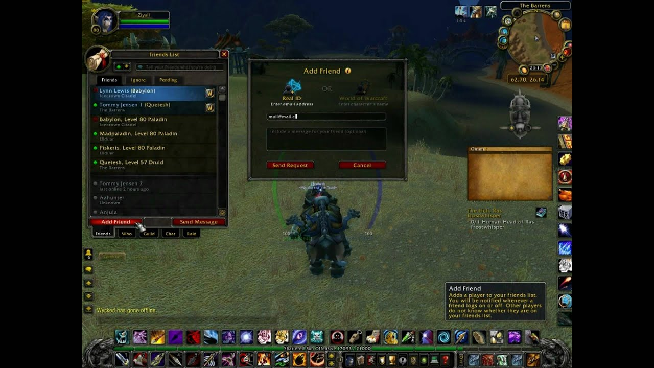 Warcraft 3 how to add friends